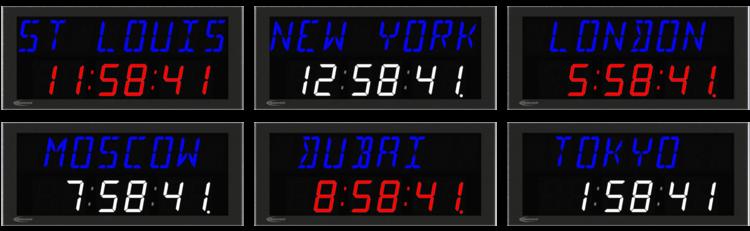 NTDS26-8AL 2-zeilige NTP Zeitzonenanzeige