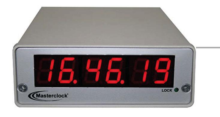 NTD200 6-stell. LED Zeitdisplay, NTP synchronisiert
