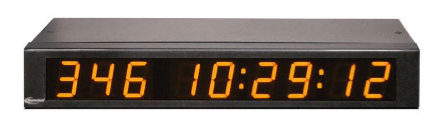 NTDS19 9-stell. LED Zeitanzeige, NTP synchronisiert