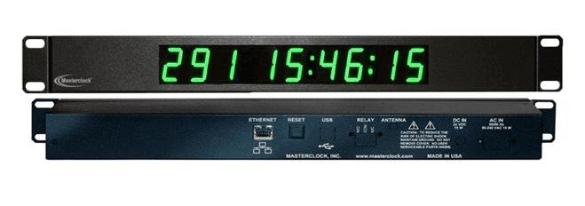 NTDS19-RM 9-stell. LED Zeitanzeige, NTP synchronisiert