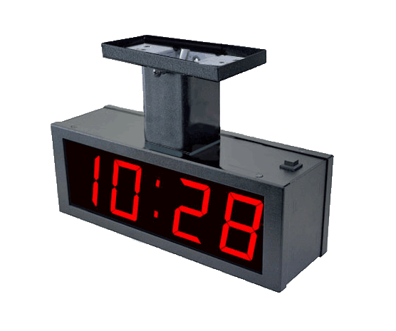 NTDS24-DF 4-stell. LED Zeitanzeige, NTP synchronisiert, doppelseitig