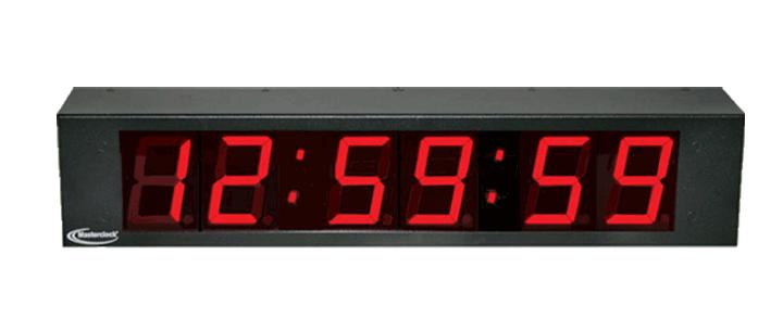 NTDS26 6-stell. LED Zeitanzeige, NTP synchronisiert