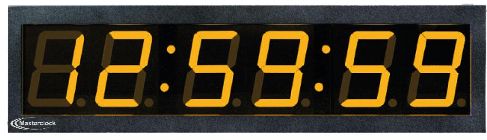 NTDS46 6-stell. LED Zeitdisplay, NTP synchronisiert