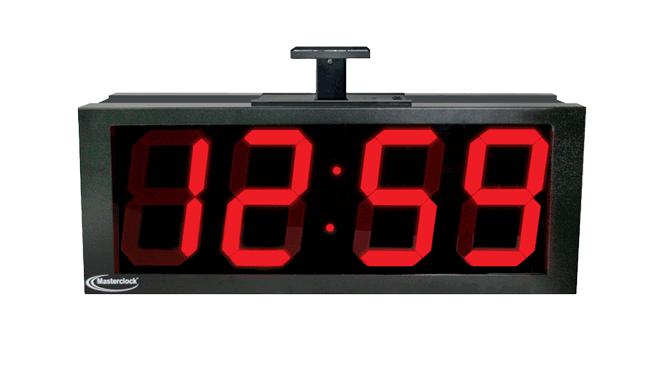 NTDS84-DF zweiseitiges 4-stell. LED Zeitdisplay, NTP synchronisiert