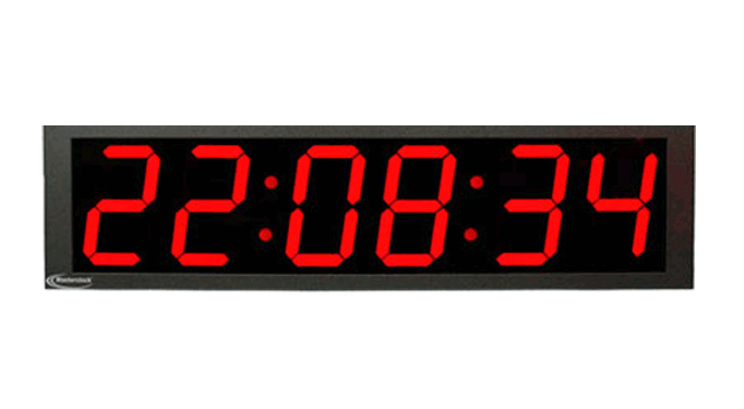 NTDS86 6-stell. LED Zeitdisplay, NTP synchronisiert