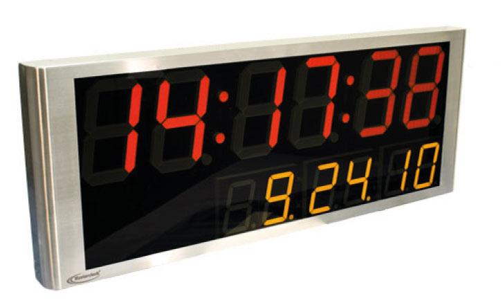 NTDS8646 2-zeiliges NTP Zeitdisplay 100x38cm