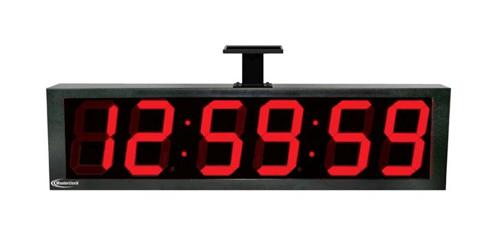 NTDS86-DF zweiseitiges 6-stell. LED Zeitdisplay, NTP synchronisiert