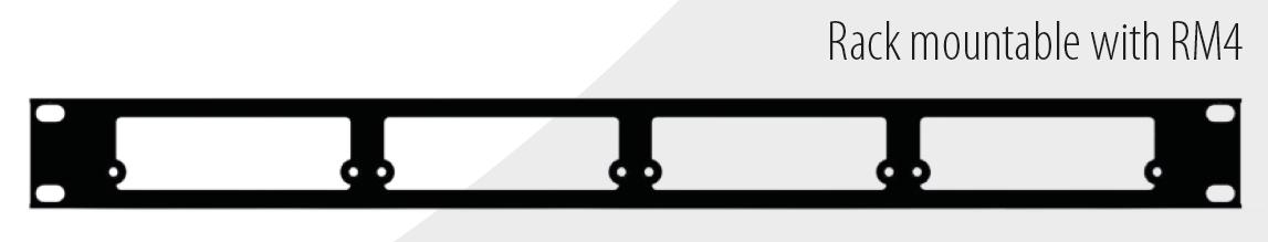 """RM4 19""""Rahmen für 4 Masterclock Geräte"""
