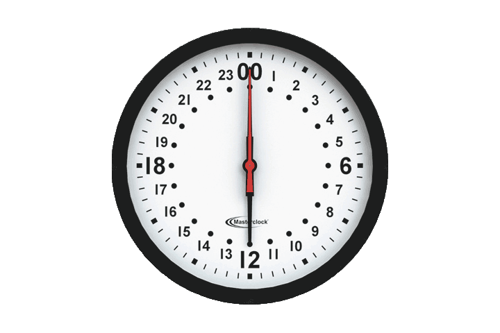 CLKNTD12-24H NTP Analog Clock with 24 hour movement