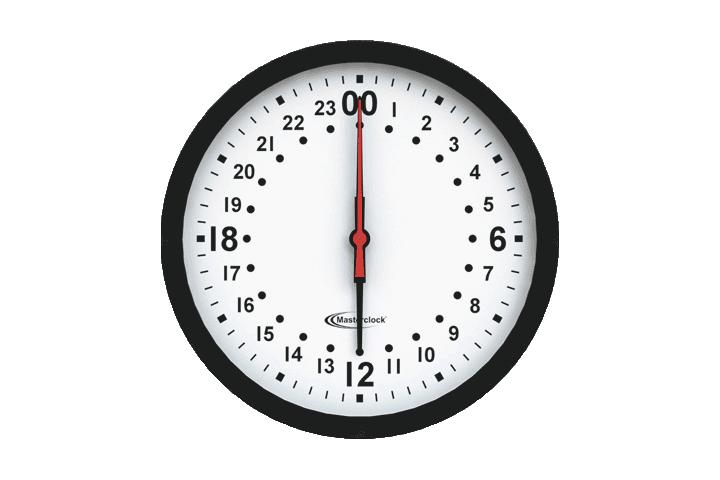Analoge NTP Wanduhr mit 24 Stunden Zeiger