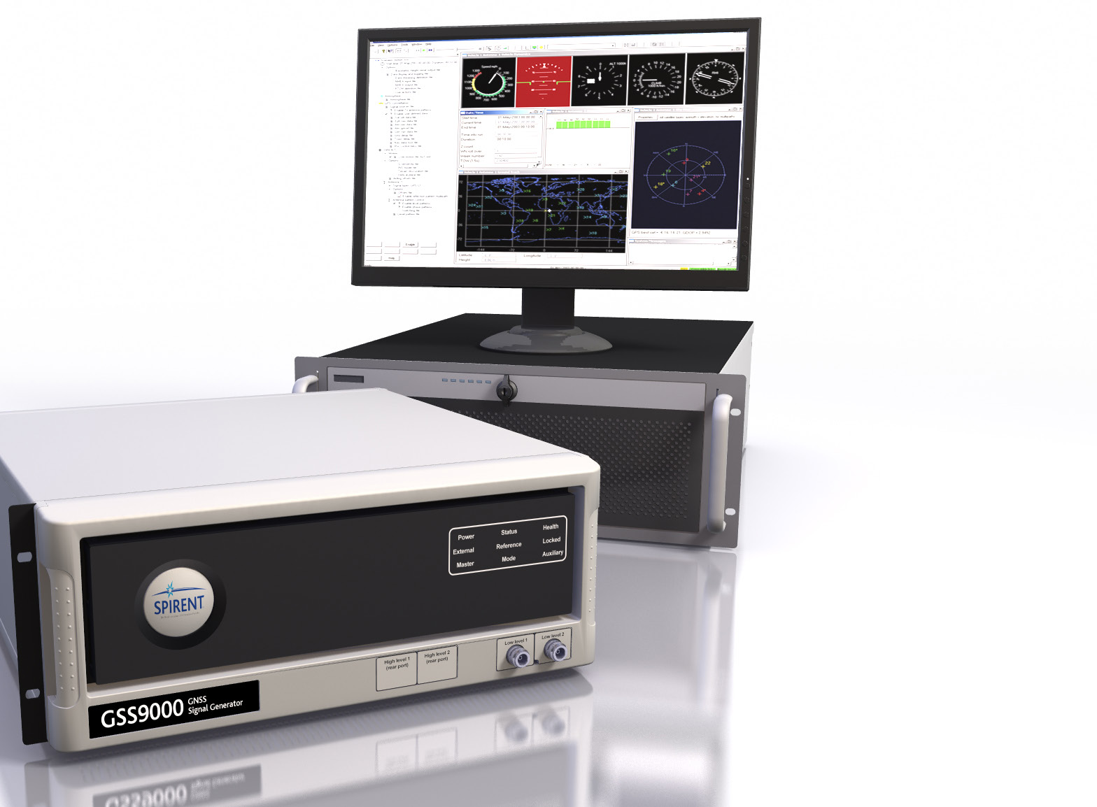 GSS9000 Multi-Frequency, Multi-GNSS RF Constellation Simulator