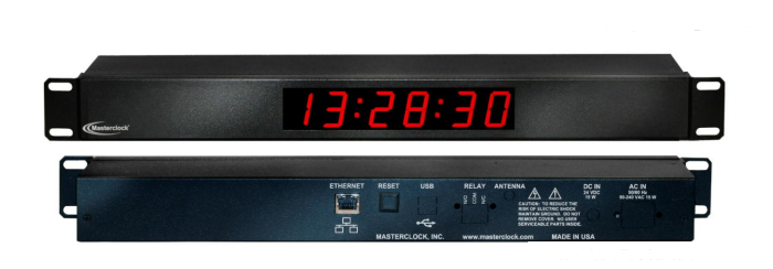 NTDS16-RM 6-stell. LED Zeitanzeige, NTP synchronisiert
