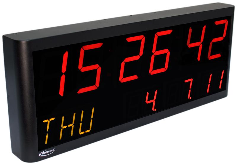 NTDS4626-3AL 2-zeiliges LED Zeitdisplay, NTP synchronisiert